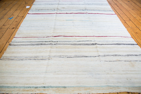6.5x10 Vintage Rag Rug Carpet - Old New House