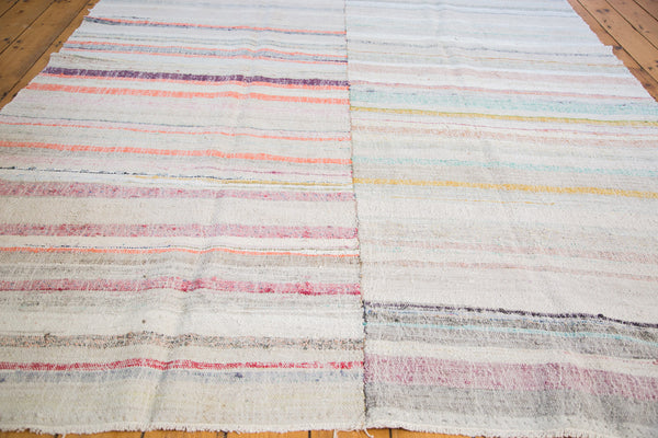 7x9.5 Vintage Rag Rug Carpet - Old New House