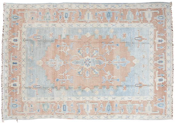 6x8 Vintage Oushak Carpet - Old New House