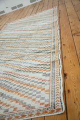 4x9 Distressed Oushak Rug Runner Onh Item Ee001413