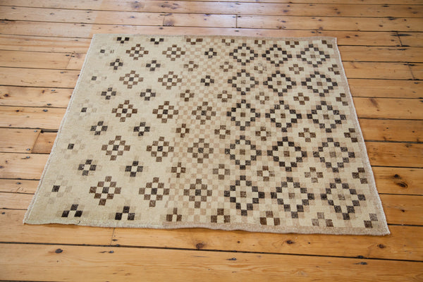 RESERVED 4x4 Distressed Sparta Square Rug - Old New House