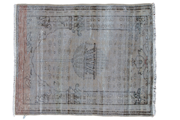 4x4.5 Distressed Square Oushak Rug - Old New House