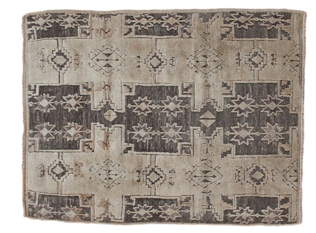 4x5 Distressed Oushak Rug - Old New House