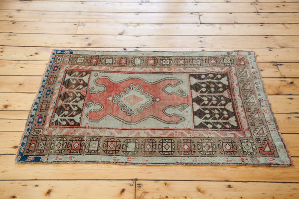 3x4 Vintage Oushak Square Rug - Old New House