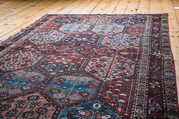 4.5x7 Distressed Antique Bakitary Rug - Old New House