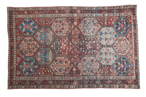 4 5x7 Distressed Antique Bakitary Rug