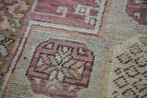 3.5x9 Distressed Oushak Rug Runner - Old New House