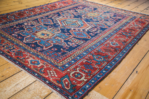 5x6 Antique Karaja Square Rug - Old New House