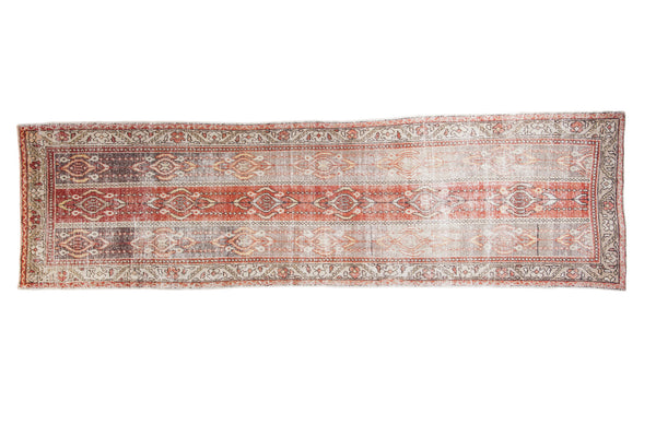 3.5x12 Distressed Oushak Rug Runner - Old New House
