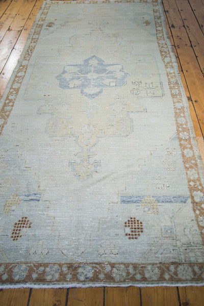 4x11 Distressed Oushak Rug Runner - Old New House