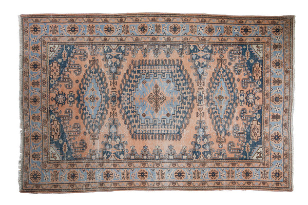 6x9.5 Distressed Veece Carpet - Old New House