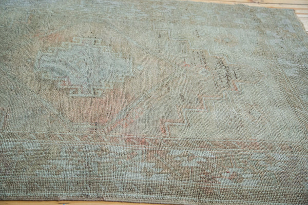 4.5x5 Distressed Oushak Square Rug - Old New House