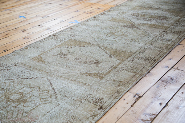 3.5x11 Distressed Oushak Rug Runner - Old New House