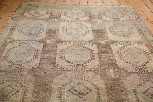 6x11 Distressed Oushak Rug - Old New House