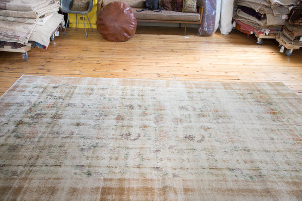 Distressed Oushak Carpet / Item ee001654 image 4