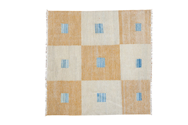 3.5x3.5 New Kilim Square Rug - Old New House