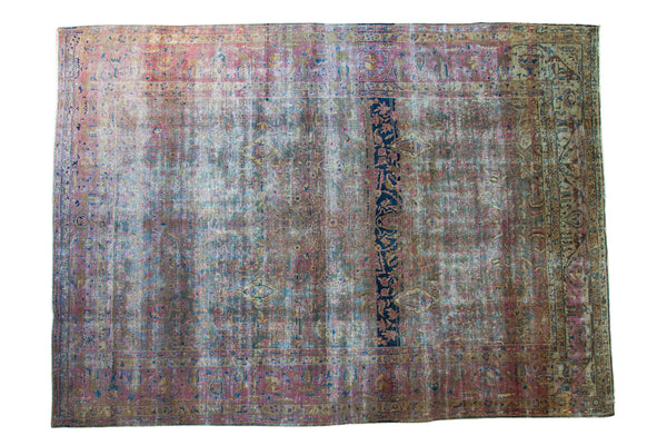 8.5x12 Distressed Designer Carpet - Old New House