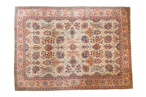8x11 Distressed Kazvin Carpet - Old New House