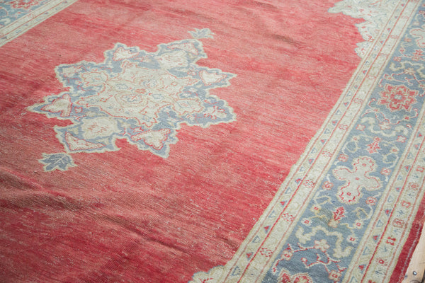 8x12 Distressed Oushak Carpet - Old New House