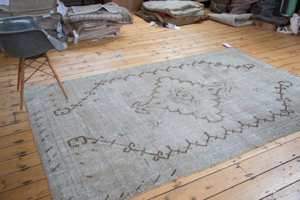 5.5x9 Distressed Oushak Carpet - Old New House