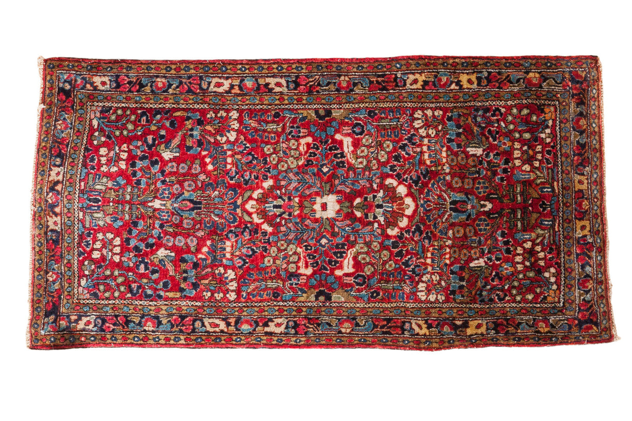 2x4 Vintage Sarouk Rug Mat - Old New House