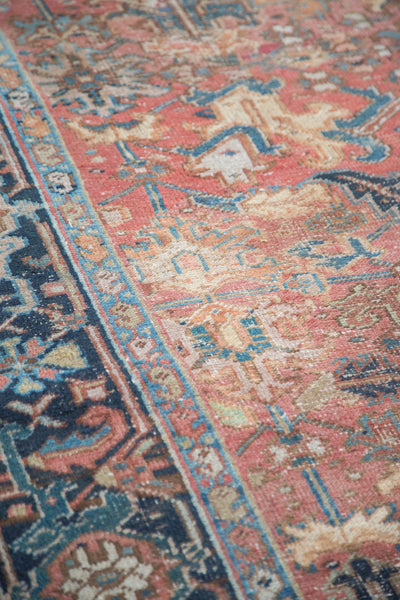 6.5x9.5 Distressed Heriz Carpet - Old New House