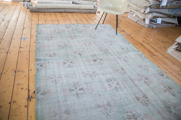 5.5x8 Distressed Oushak Carpet - Old New House