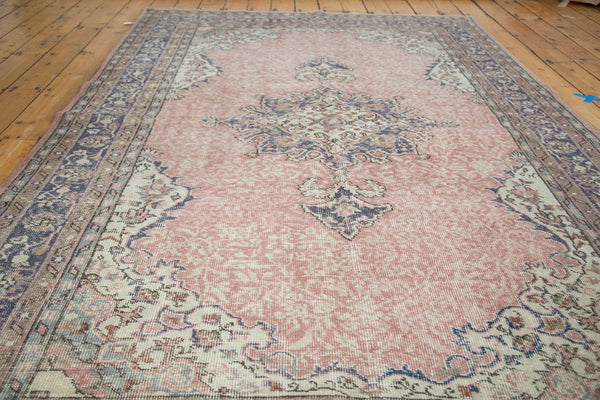 6x9.5 Distressed Oushak Carpet - Old New House