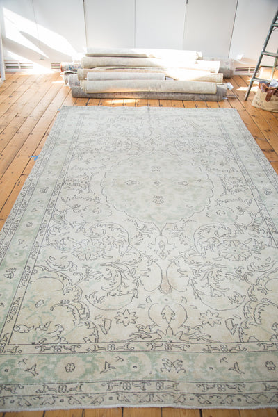 Distressed Oushak Carpet / Item ee001804 image 4