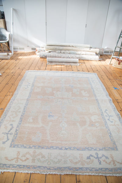 Distressed Oushak Carpet / Item ee001828 image 7