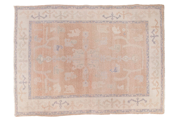 6x8 Distressed Oushak Carpet - Old New House