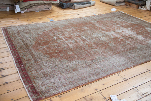 Distressed Oushak Carpet / Item ee001836 image 2