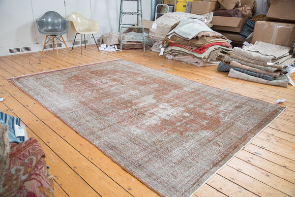 Distressed Oushak Carpet / Item ee001836 image 6