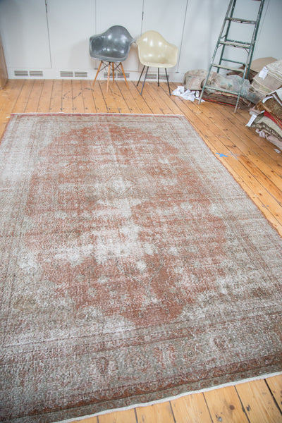 Distressed Oushak Carpet / Item ee001836 image 8