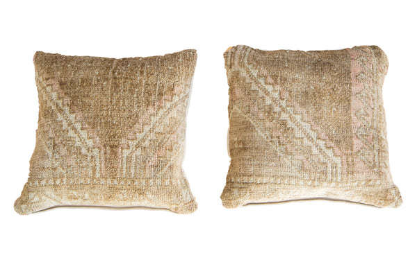 Vintage Turkish Rug Pillow Pair - Old New House