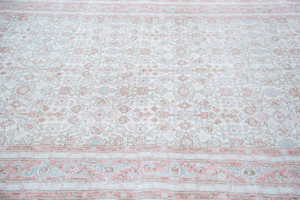 5.5x8.5 Distressed Oushak Carpet - Old New House