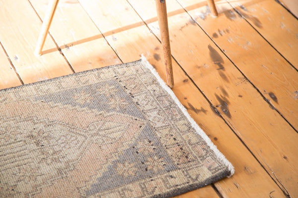 2x3.5 Distressed Oushak Rug Mat - Old New House