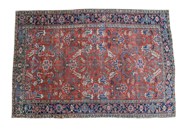 7.5x11 Vintage Heriz Carpet - Old New House