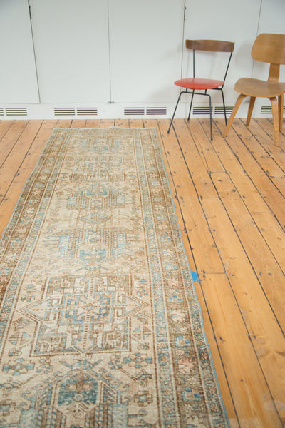 3x11.5 Vintage Heriz Rug Runner - Old New House