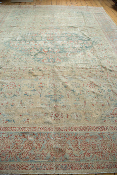 9x12.5 Distressed Antique Sultanabad Carpet - Old New House