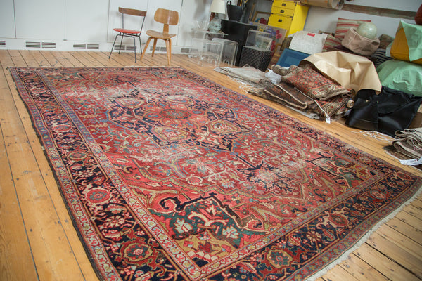 8x12 Distressed Ahar Heriz Carpet - Old New House