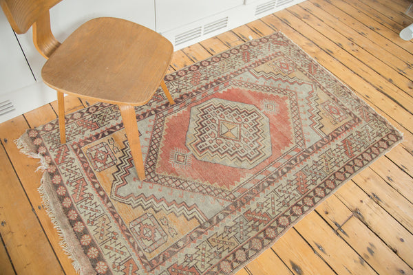 3.5x5.5 Distressed Oushak Rug - Old New House