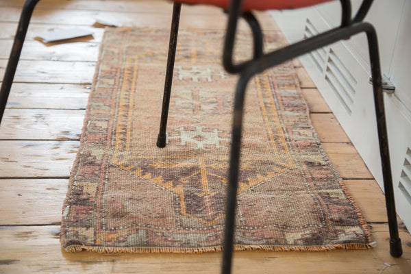 1.5x3.5 Vintage Oushak Rug Mat Runner - Old New House