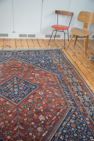7x9.5 Vintage Shiraz Carpet - Old New House