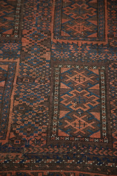 3x6 Distressed Antique Belouch Rug Runner - Old New House
