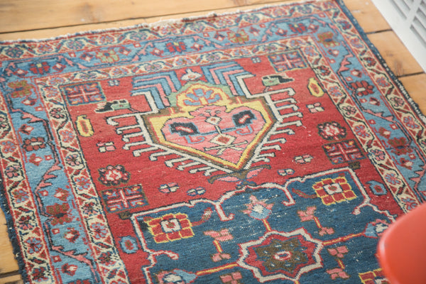 Distressed Heriz Rug / Item ee002054 image 5