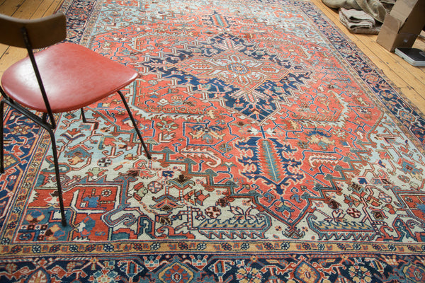 8.5x11.5 Vintage Heriz Carpet - Old New House