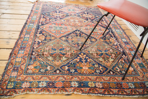 4.5x5.5 Distressed Afshar Square Rug - Old New House
