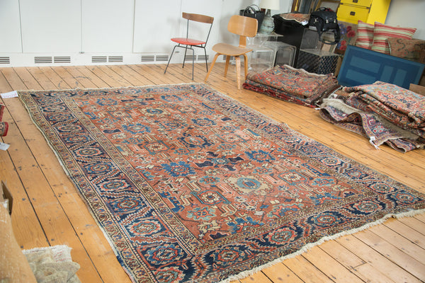 7.5x10 Vintage Heriz Carpet - Old New House