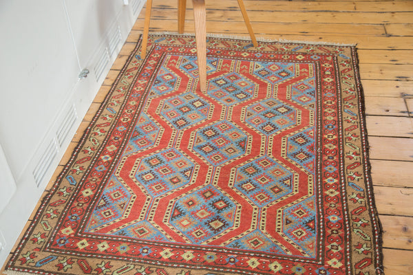 4x5 Vintage Northwest Persian Square Rug - Old New House